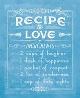 Life Recipes I Blue Fine-Art Print