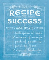 Life Recipes II Blue Fine-Art Print