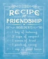 Life Recipes III Blue Fine-Art Print