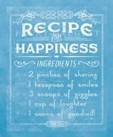 Life Recipes IV Blue Fine-Art Print