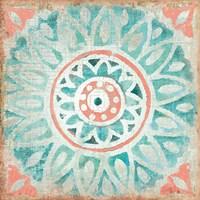 Ocean Tales Tile VII Coral Fine-Art Print