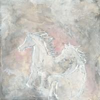 Blush Horses I Fine-Art Print