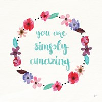 Simply Amazing I Blue and Blush Fine-Art Print