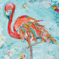 Flamingo Bright Framed Print