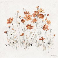 Wildflowers II Orange Fine-Art Print