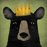 The Black Bear with Crown Fine-Art Print