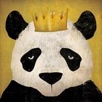 Panda with Crown Fine-Art Print
