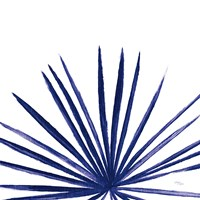 Statement Palms III Indigo Fine-Art Print