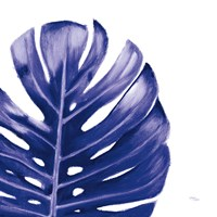 Statement Palms IV Indigo Fine-Art Print