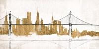 Bridge and Skyline Gold Fine-Art Print