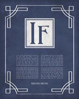If by Rudyard Kipling - Ornamental Border Blue Fine-Art Print
