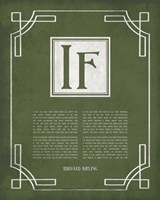 If by Rudyard Kipling - Ornamental Border Green Fine-Art Print