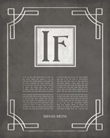 If by Rudyard Kipling - Ornamental Border Gray Fine-Art Print