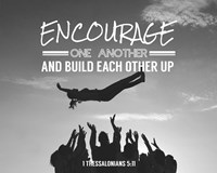 Encourage One Another - Celebrating Team Grayscale Fine-Art Print