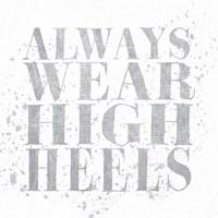 Shoe Fetish Quotes II Light Silver Fine-Art Print