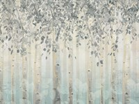 Silver and Gray Dream Forest I Fine-Art Print