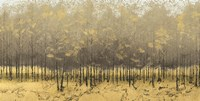 Golden Trees III Taupe Fine-Art Print
