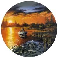 Man Bay Fishing Fine-Art Print