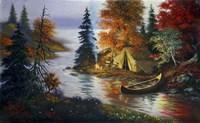 Tent Canoe Fine-Art Print
