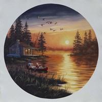 Fishermen Canoe Fine-Art Print