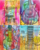 Four Guitars Fine-Art Print