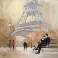 Romantic Paris I Red Jacket Fine-Art Print