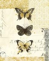 Golden Bees n Butterflies No 2 Fine-Art Print