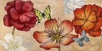 Flowers and Butterflies (Neutral) Fine-Art Print