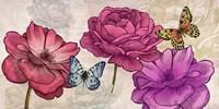 Roses and Butterflies (Neutral) Fine-Art Print