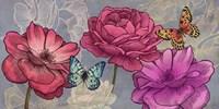 Roses and Butterflies (Ash) Fine-Art Print