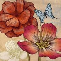 Flowers and Butterflies (detail) Fine-Art Print