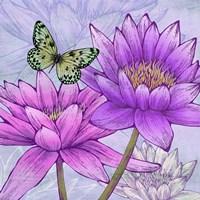 Nympheas and Butterflies (detail) Fine-Art Print