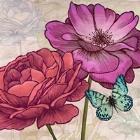 Roses and Butterflies (detail) Fine-Art Print