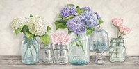 Flowers in Mason Jars Fine-Art Print