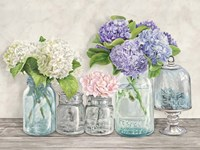 Flowers in Mason Jars (detail) Fine-Art Print