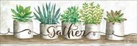 Gather Succulent Pots Fine-Art Print