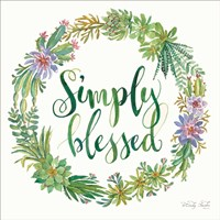 Simply Blessed Succulent Wreath Fine-Art Print