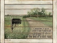 The End of a Dirt Road Fine-Art Print