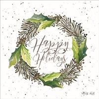 Happy Holidays Wreath Fine-Art Print