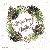 Merry Christmas Wreath Fine-Art Print