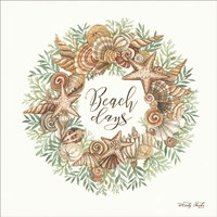Beach Days Shell Wreath Fine-Art Print
