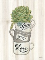 Grow with Love Succulents Fine-Art Print