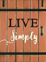 Live Simply Barn Door Fine-Art Print