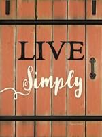 Live Simply Barn Door Fine-Art Print