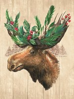 Holiday Moose Fine-Art Print