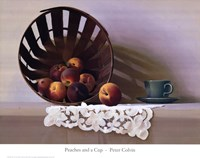 Peaches and a Cup Fine-Art Print