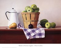 Basket of Green Apples Fine-Art Print