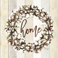Home Cotton Wreath Framed Print