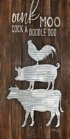 Metal Farm Animal Stack Fine-Art Print