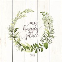 My Happy Place Wreath Fine-Art Print